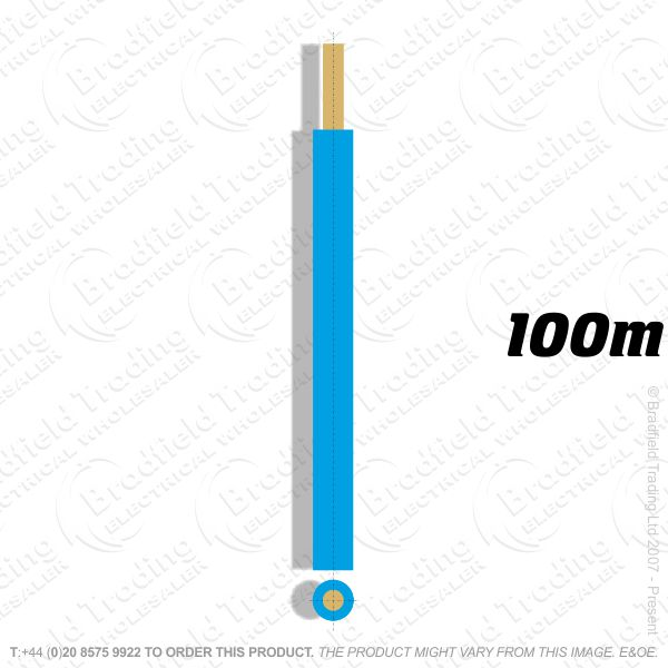 H04) Single Strand Blue 2.5mm 100M 6491X