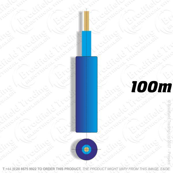 H05) Meter Tails 25mm blue-blue 100M