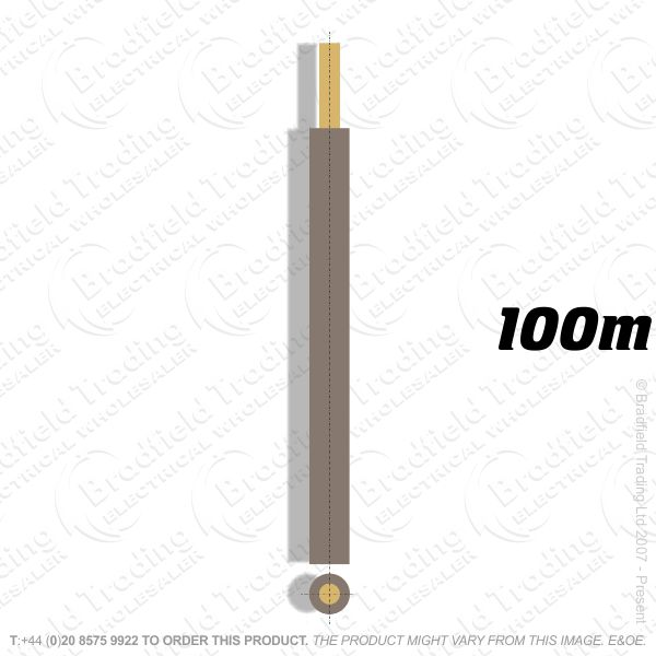 H04) Single Strand brown 2.5mm 100m 6491X