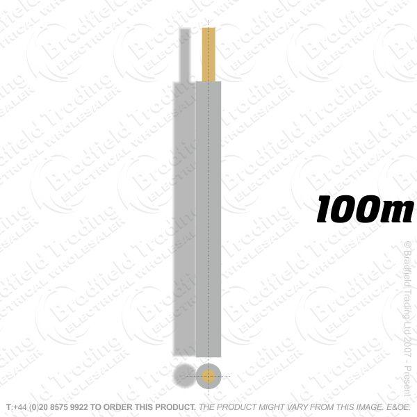 H04) Single Strand Grey 2.5mm 100m 6491X