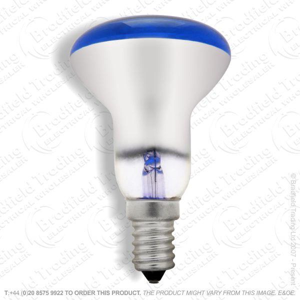 A09) Reflector R50 col SES blue 25W CRO