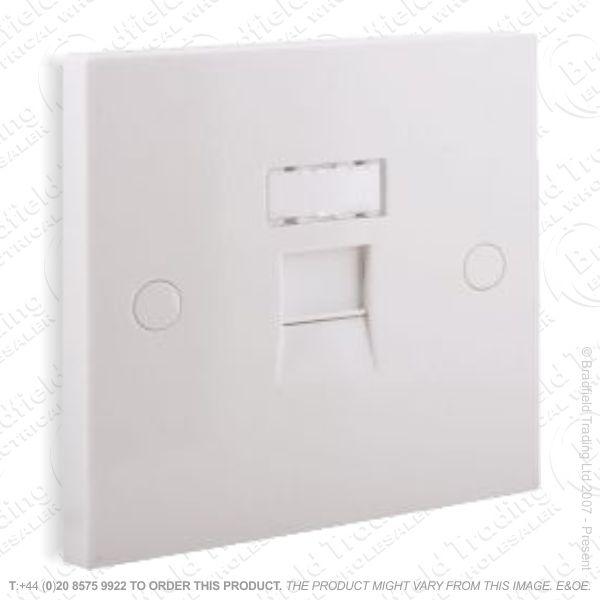 I30) Socket Network Flush 1G white SKY