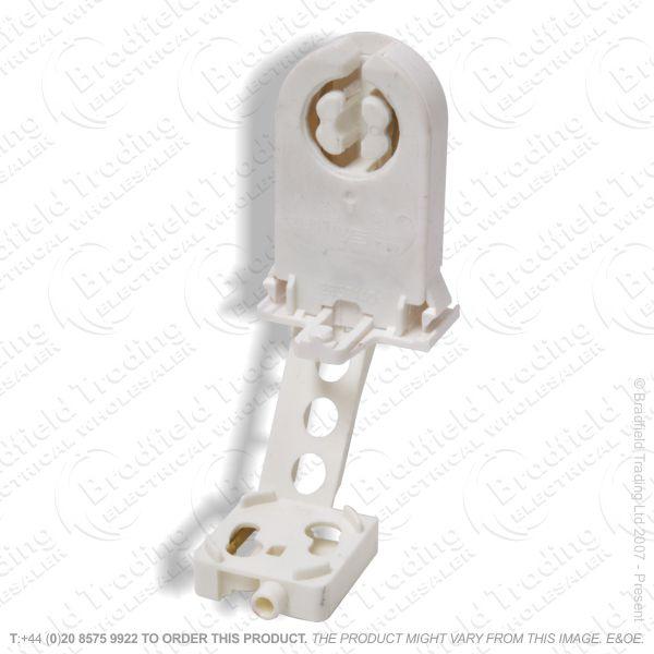 B04) Lamp Holder T8 End Push+Starter