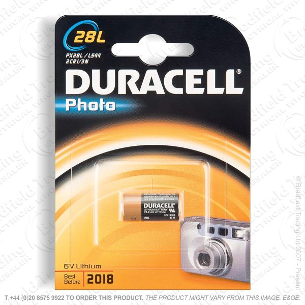 E08) 28L Photo 6V Lithium Battery DURACELL
