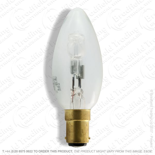 A12) Candle Halogen SBC Clear 28W (38w) Lamp