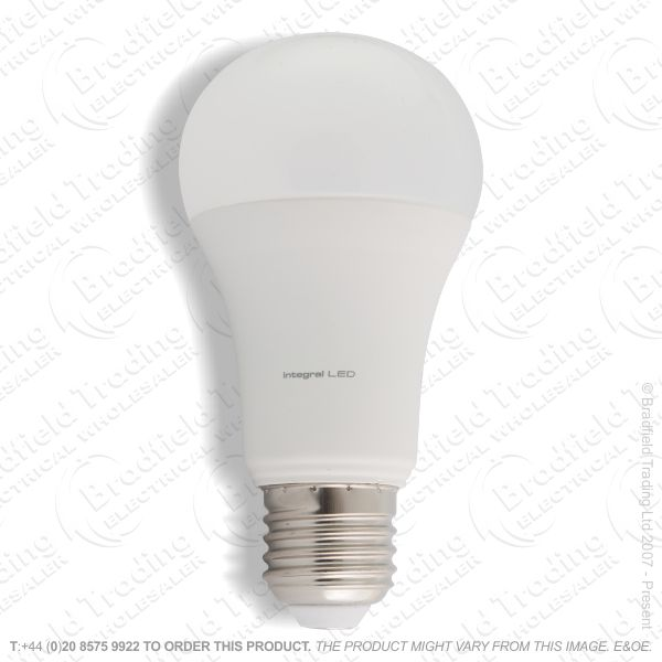 A22) 13W LED GLS ES 5000k 1600lm INTEGRAL