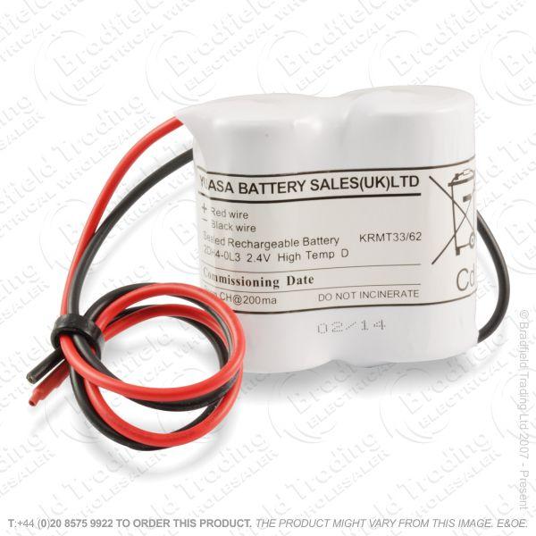 E12) Battery Rech Emergency 2.4V Side by Side