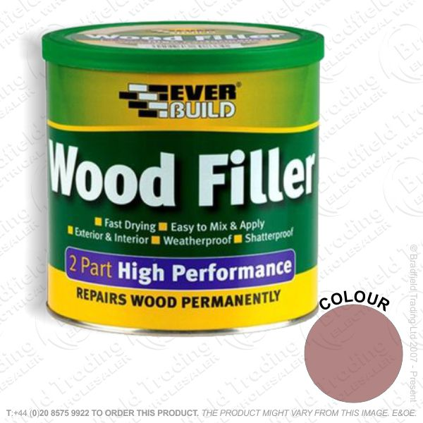 G15) 2Part Wood Filler Mahogany EVERBUILD