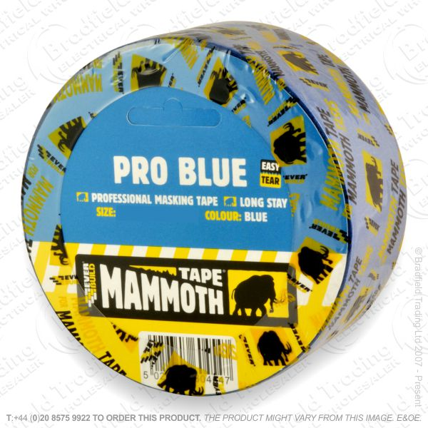 G02) Pro Blue Masking Tape 50mm EVERBUILD