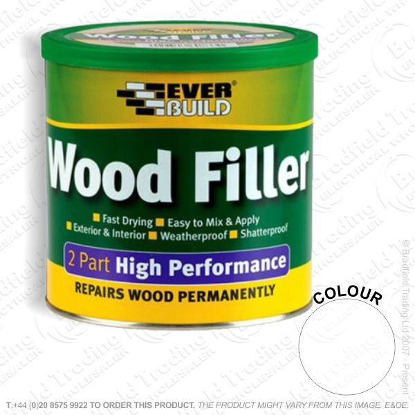 G15) 2Part Wood Filler White EVERBUILD