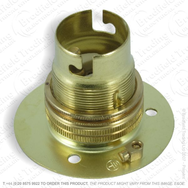 B02) Lamp Holder Batten BC brass LILLEY