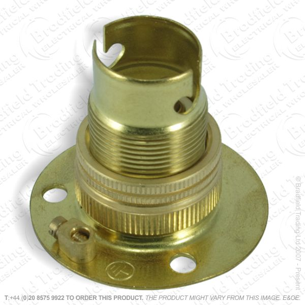 B02) Lamp Holder Batten SBC brass LIL