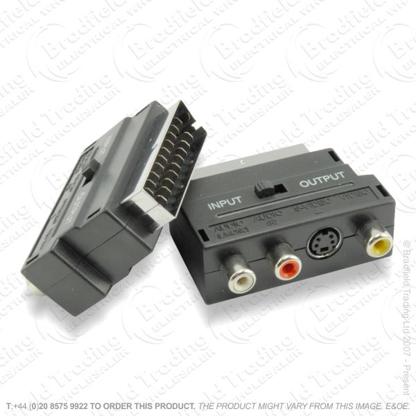 E27) Scart M to F and 3 RCA Svhs Switche