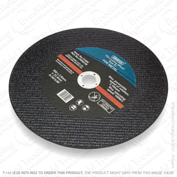 G31) Metal Cutting Disc 115x2.0mm Inox DRAPER