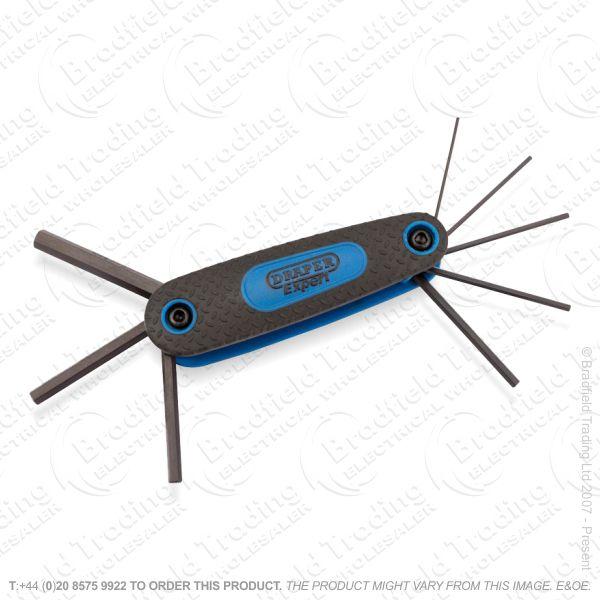 G36) Allen Hex Keys Folding 8pc MM Set