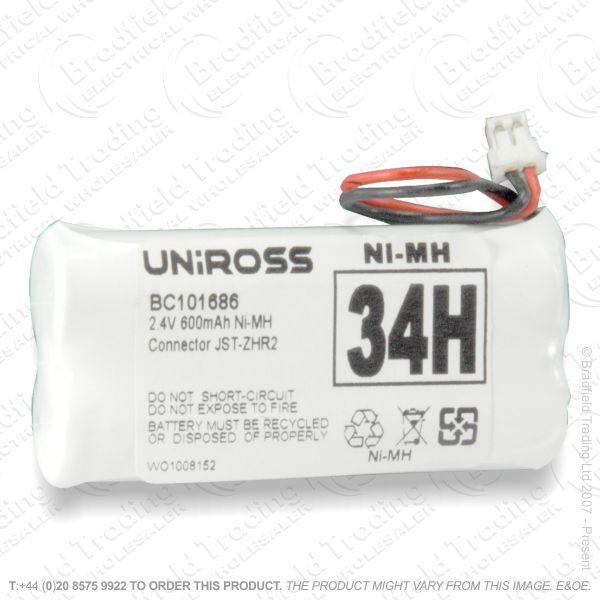 E13) Battery Phone 3.6V 600mAH 2xAAA UNI