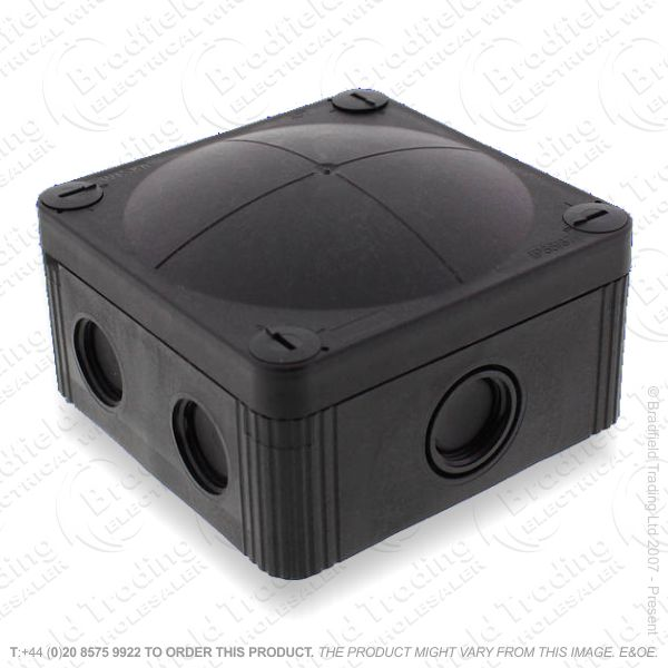 24A Junction Box 95x95x60 Black WISKA