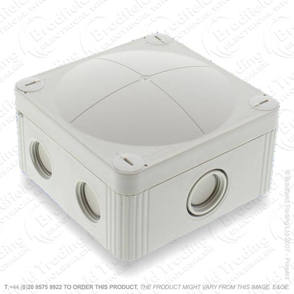 24A Junction Box 95x95x60 Grey WISKA