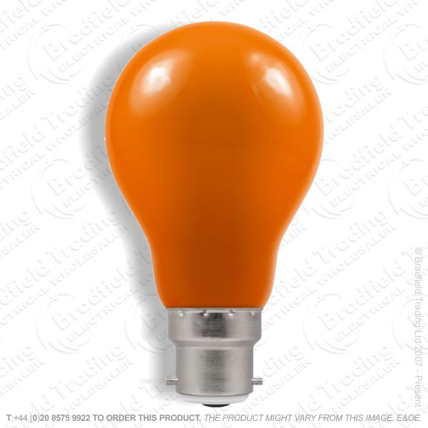 A23) LED GLS 1.5W BC Amber Colour CROMTON