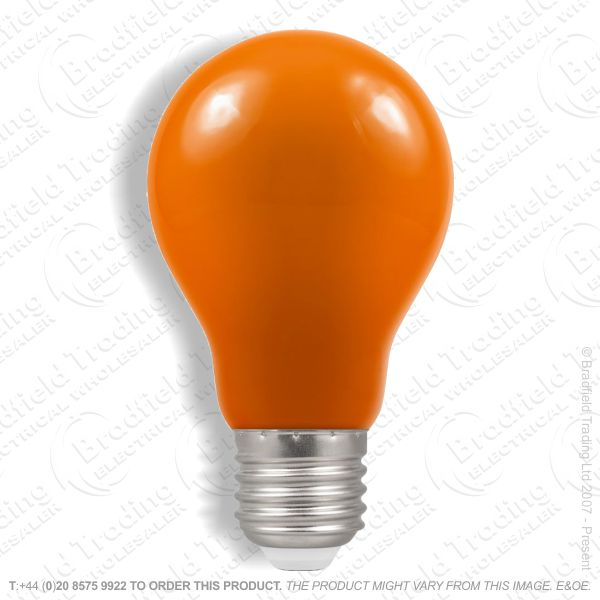 A23) LED GLS 1.5W ES Amber Colour CROMTON