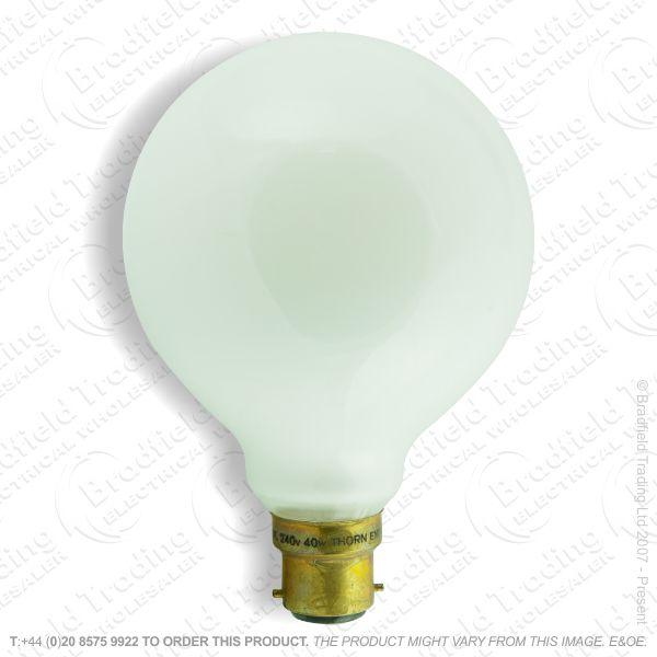 A08) Decor Globe 95mm BC white opal 40W