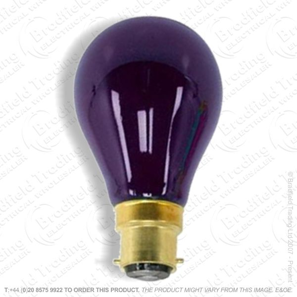 A02) GLS col BC purple 40W indoor useOSR
