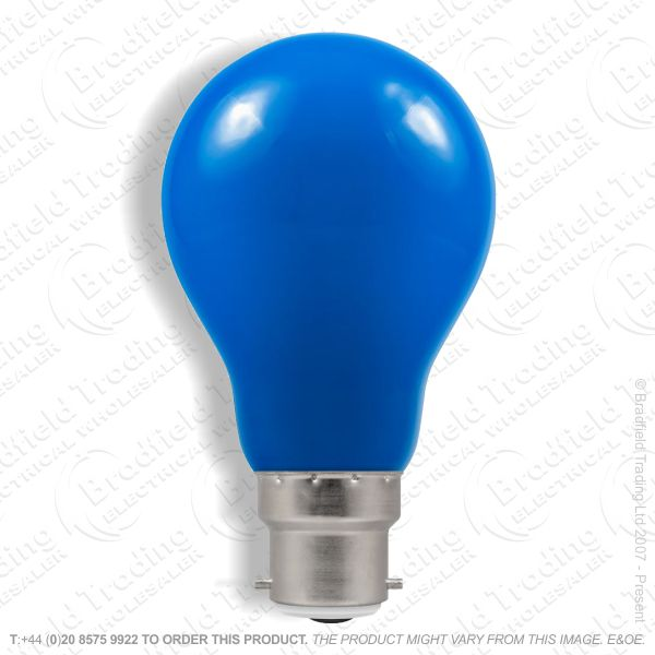A23) LED GLS 1.5W BC Blue Colour CROMTON