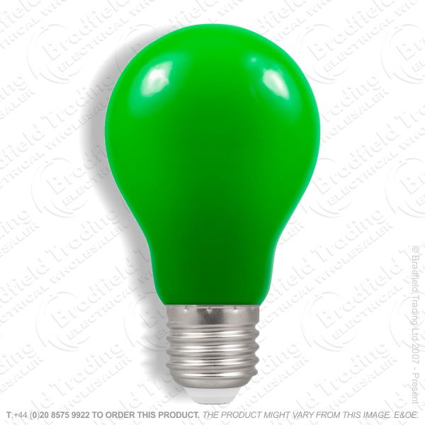 A23) LED GLS 1.5W ES Green Colour CROMTON
