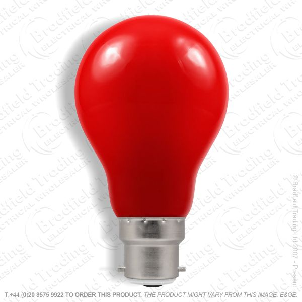 A23) LED GLS 1.5W BC Red Colour CROMTON