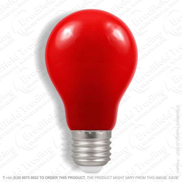 A23) LED GLS 1.5W ES Red Colour CROMTON
