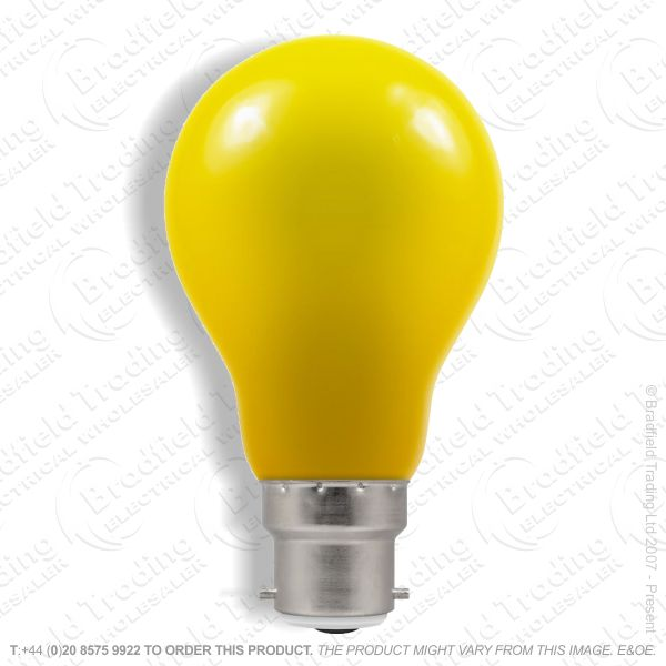 A23) LED GLS 1.5W BC Yellow Colour CROMTON