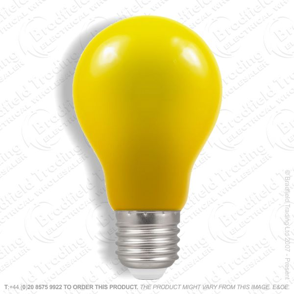 A23) LED GLS 1.5W ES Yellow Colour CROMTON