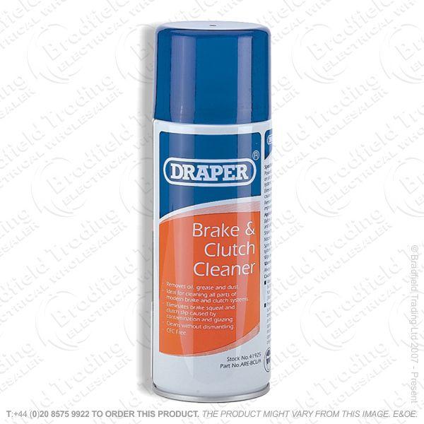 G54) Brake   Clutch Cleaner 400ml DRAPER