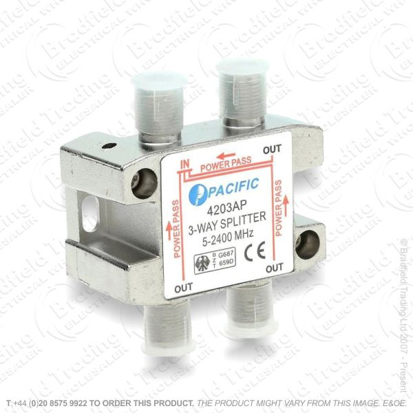 E30) Splitter Satellite 3way 122.823