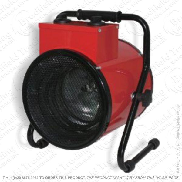 D03) Fan Heater 3KW Industrial Red ECO