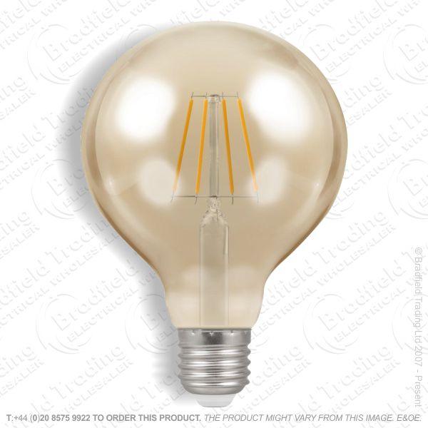 A34) LED ES 5w Globe 80 2200k Dimm Filament