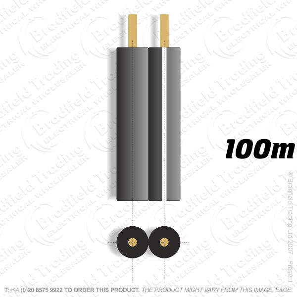 H08) Speaker Cable 42 Strand Black 100M