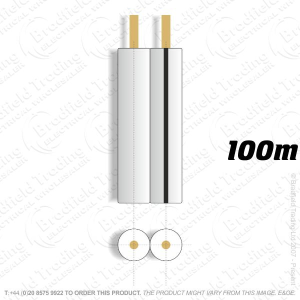 H08) Speaker Cable 42 Strand White 100M