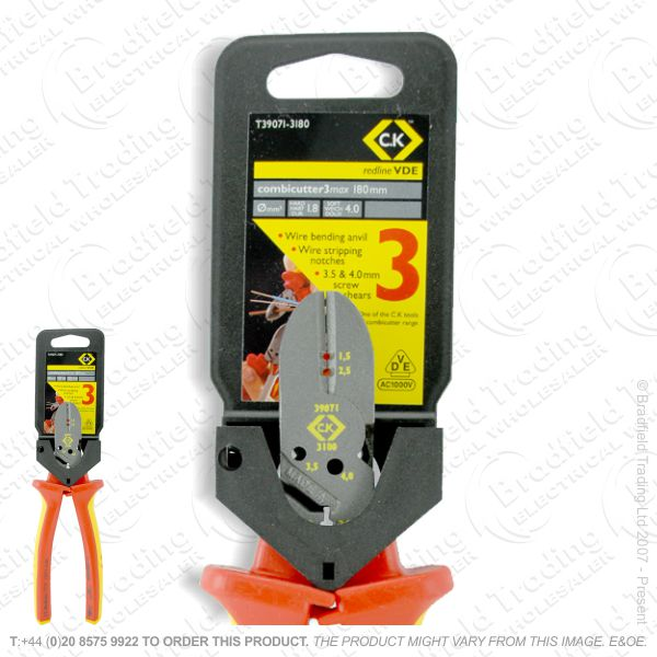 G40) VDE Combi Side Cutters 3 Wire Stripper C