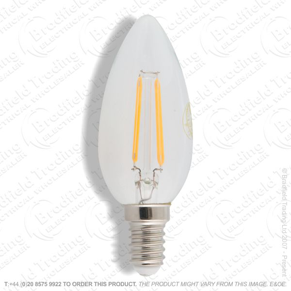 A26) LED SES 5w Candle 2700k Filament CROMTON