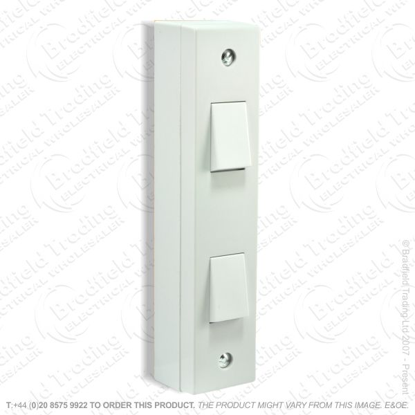 I24) Switch Architrave 2G 2w   box whit