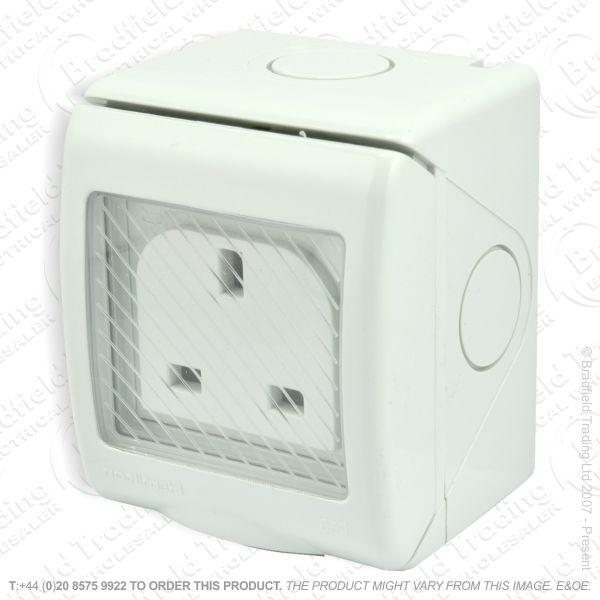 I31) Socket Weatherproof 1G 13A IP55/66 HAM