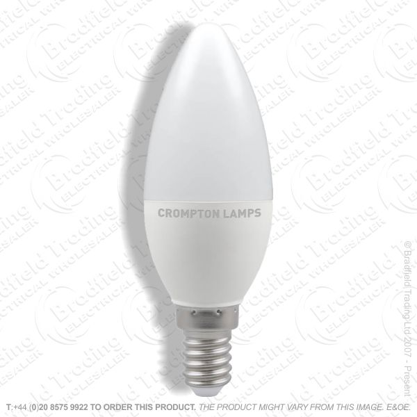 A29) 5.5W Candle Opal SES CW LED 6500k CROMPT
