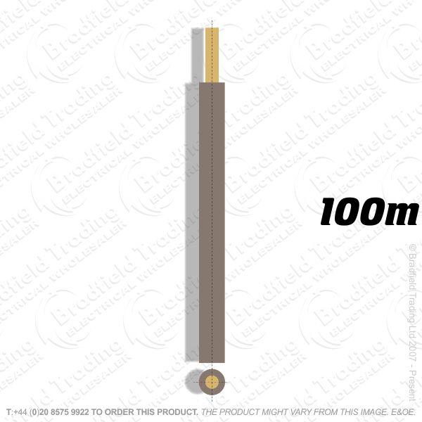 H04) Single 6491x brown 4mm 100M