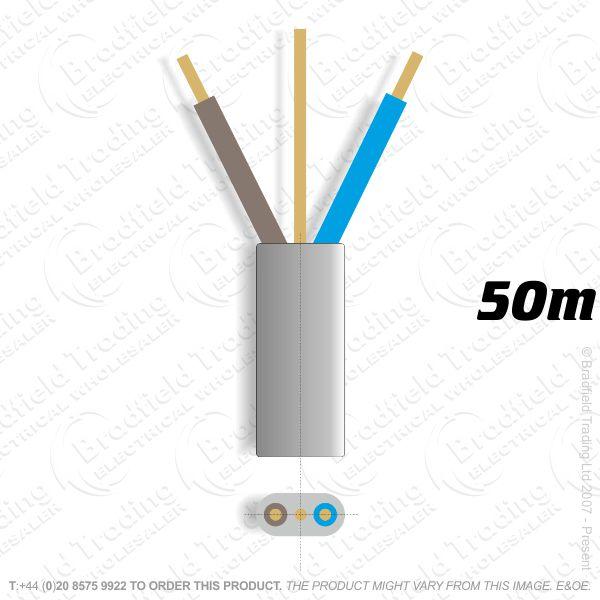 H10) 6242Y Flat 4mm T E grey 50M