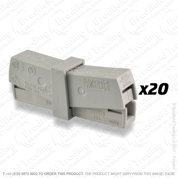 F16) Connector Push In Lighting 3w 2.5mm (20)