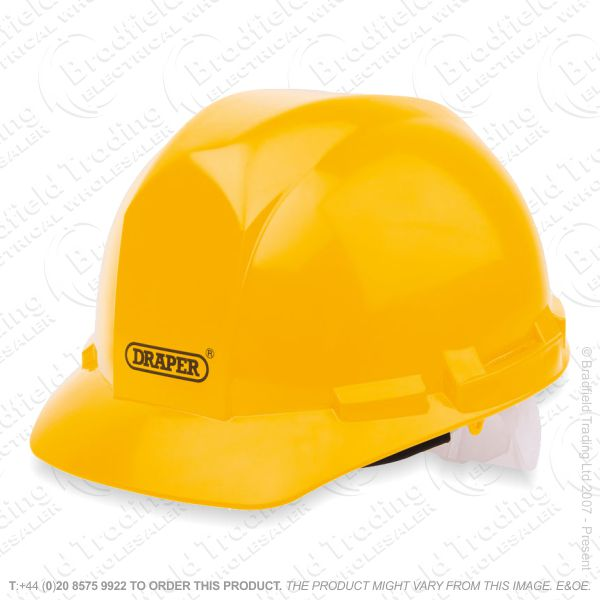 G49) Safety Hard Hat Yellow DRAPER
