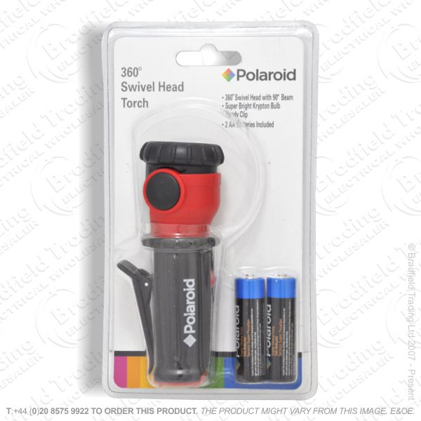 E40) Swivel Flashlight POLAROID