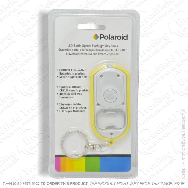 E41) LED Bottle Opener Keychain POLAROID