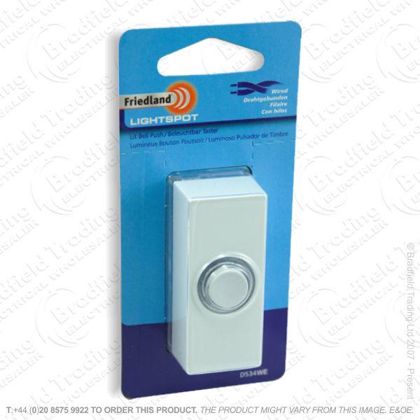 I02) Door Bell Push Light Spot white FRIEDLAN